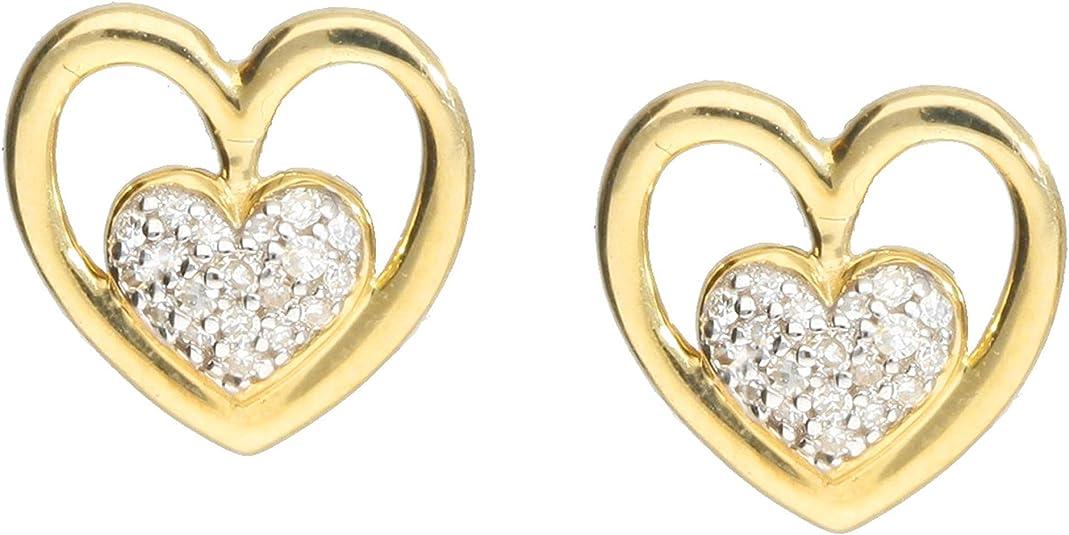 Ohrstecker Herz 375er Gold Ohrringe Ohrschmuck Schmuck