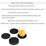 Silicone Drink Coasters with Absorbent Soft Felt