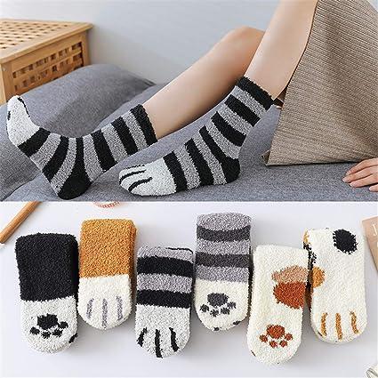 5 Pairs Winter Cat Claws Cute Thick Warm Sleep Floor Socks Warm Soft Winter 2020