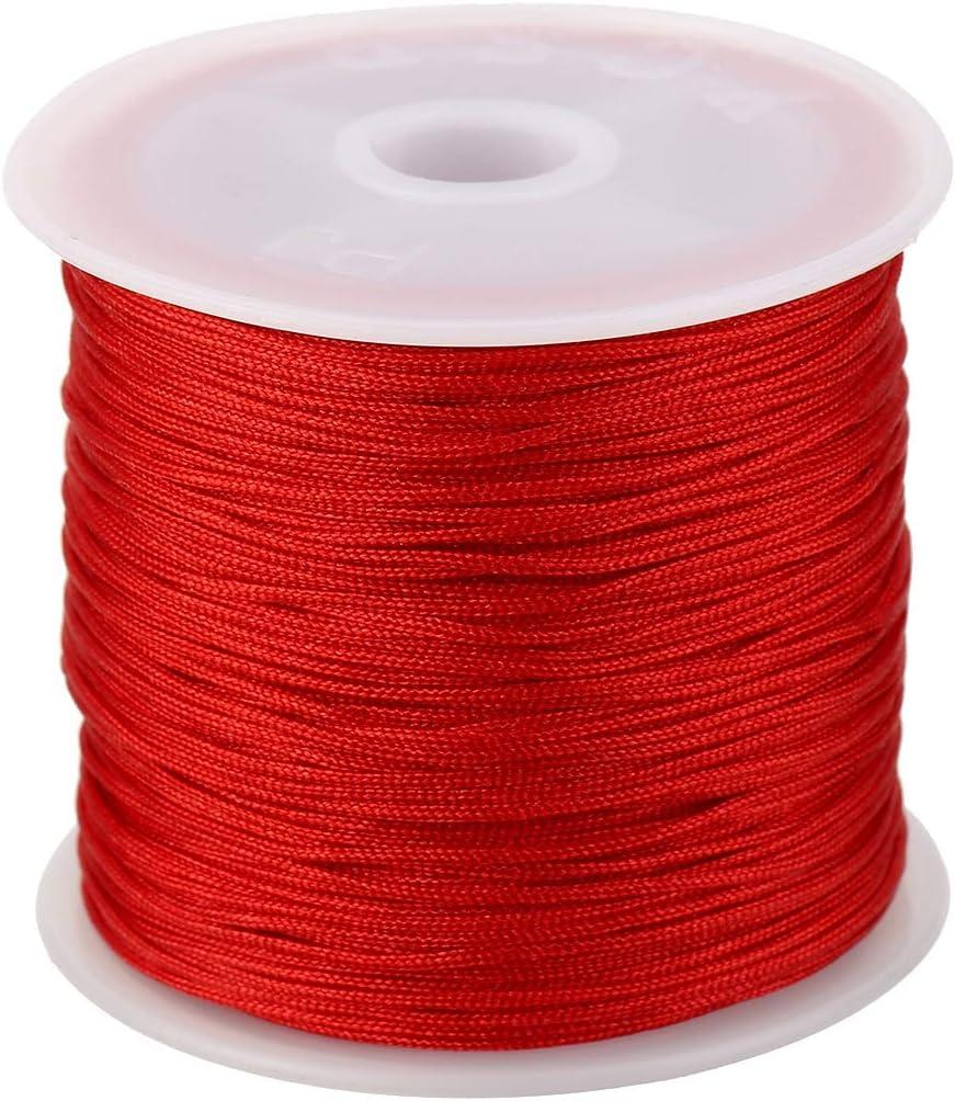 100m 0.8mm Nylon Chinese Knotting Macrame Cord Braided String Thread