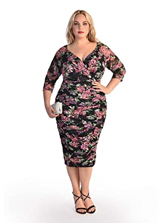 Amazon Igigi Womens Plus Size Phillippa Dress In Floral Print