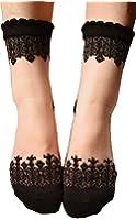 3 Pairs Women's Ultrathin Transparent Lace Elastic Short Socks