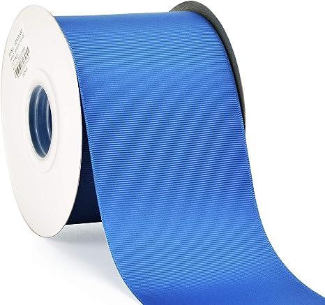 "Solid NAVY 3/"" wide grosgrain ribbon 5 yards listing"