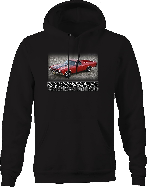American Hotrod Muscle Car El Camino SS Cowl Hood Muscle Classic Hoodie for Men