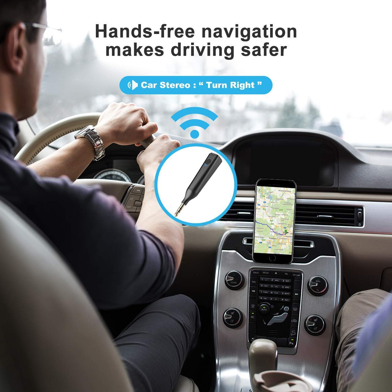 Hands-Free Car Kits 3.5mm Bluetooth Audio Jack for Home /& Car Audio Music Streaming Stereo System MANLI Wireless Mini Bluetooth 5.0 Adapter Aux Receiver Mini Bluetooth 5.0 Receiver