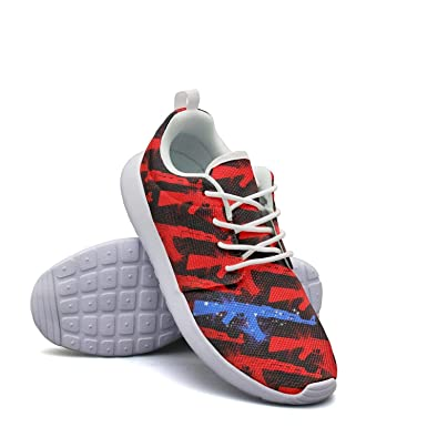 aeb8788d4ac97 Amazon.com: American Flag Guns Classic Print men sports Running ...
