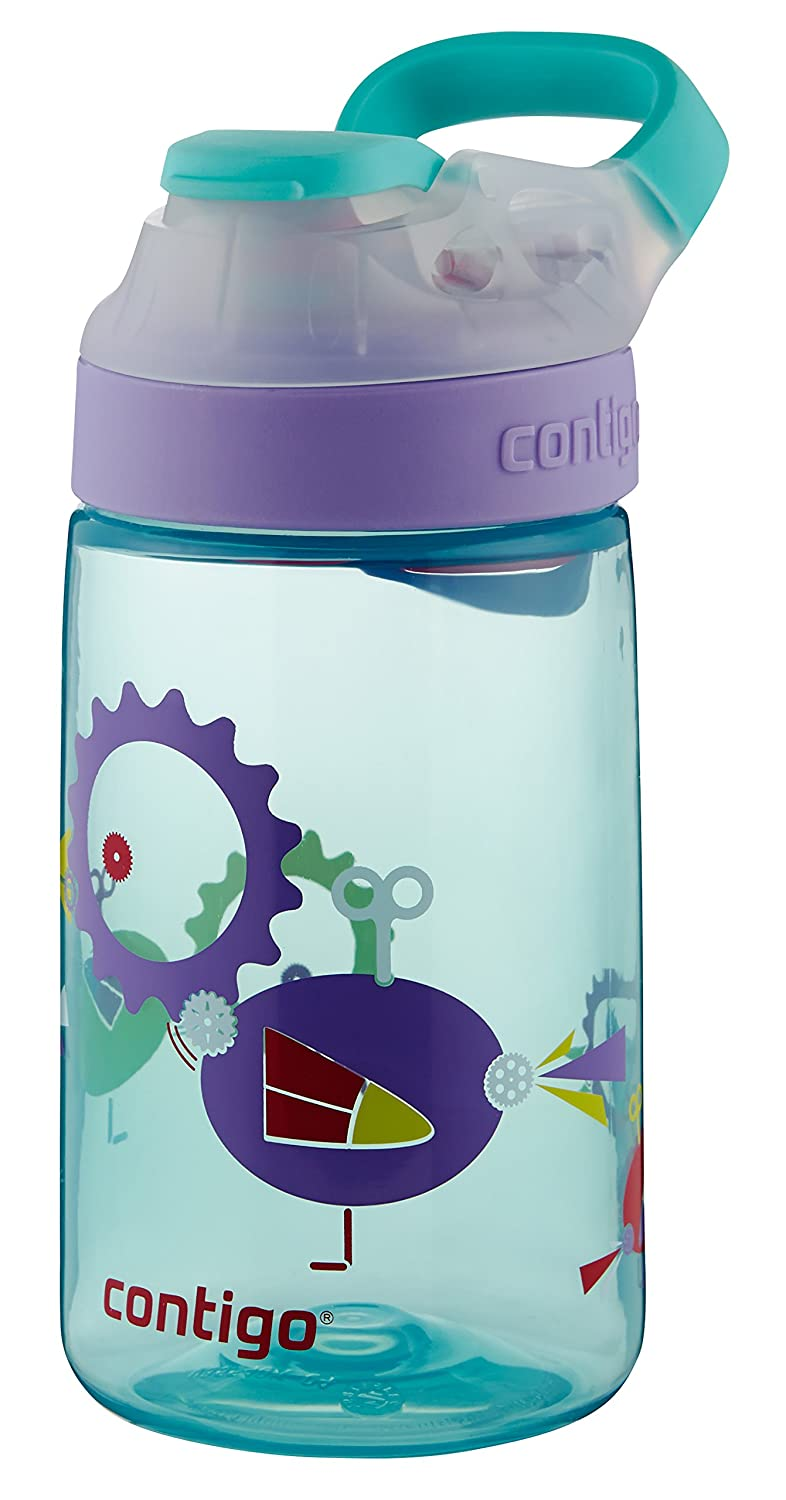 14 oz Contigo AUTOSEAL Gizmo Sip Kids Water Bottle Cherry Blossom Dandelion