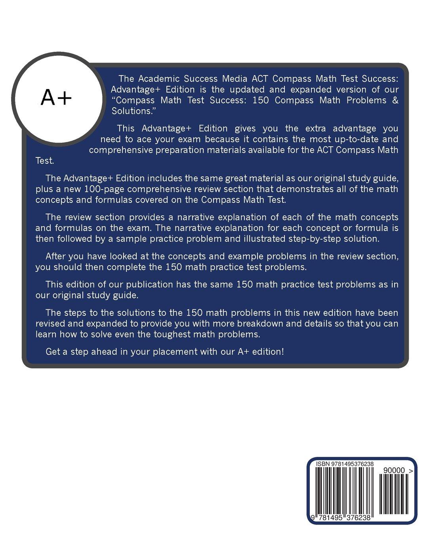 ACT Compass Math Test Success: Advantage+ Edition: Academic Success ...