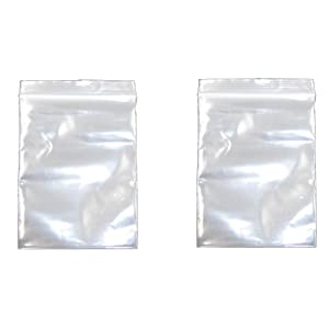 2.3x3.5 Inch, 200 Pack, Small Clear Resealable Zipper Poly Bags 2 Mil Thick, Food Grade Safe Reclosable Zipper Storage Plastic Bags for Jewelry,Candy,Beads etc JBingGG