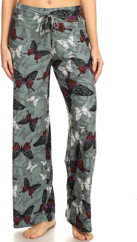 Leggings Depot Women's Popular Comfortable Casual Solid and Printed Pajama Lounge Pants BAT4