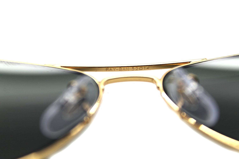 ec57495356 Amazon.com  RAY BAN AVIATOR RB 3044 L0207 52mm GOLD FRAME W  G-15XLT GREEN  SUNGLASSES SMALL  Shoes