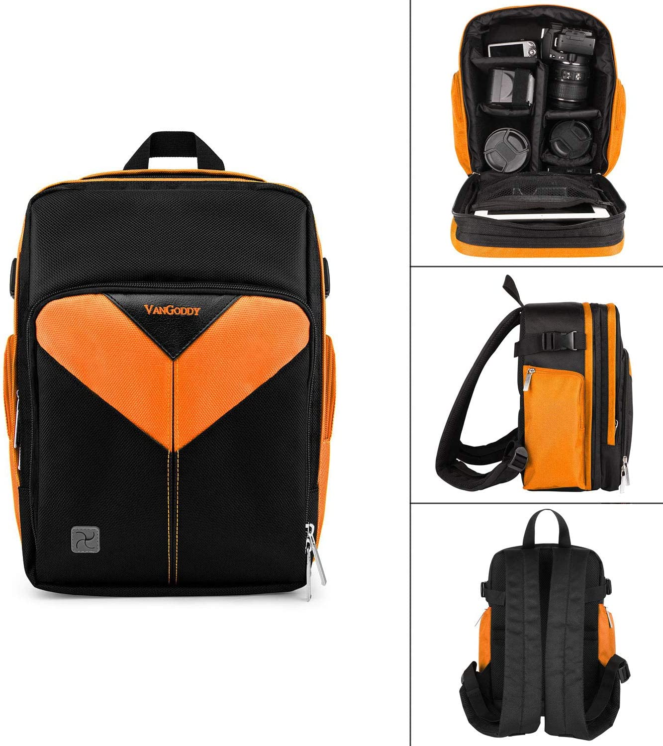 Accessories Roxie Professional Camera Case Sling Backpack for Nikon Canon Sony and More DSLR Cameras and Lens Durable Waterproof and Tear Proof Bag with Padded Dividers