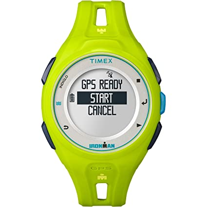 3c2a4a524 Timex Unisex TW5K87500 Ironman Run x20 GPS Full-Size Lime Resin Strap Watch