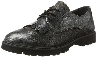 23664, Oxfords Femme, Noir (Black), 42 EUTamaris