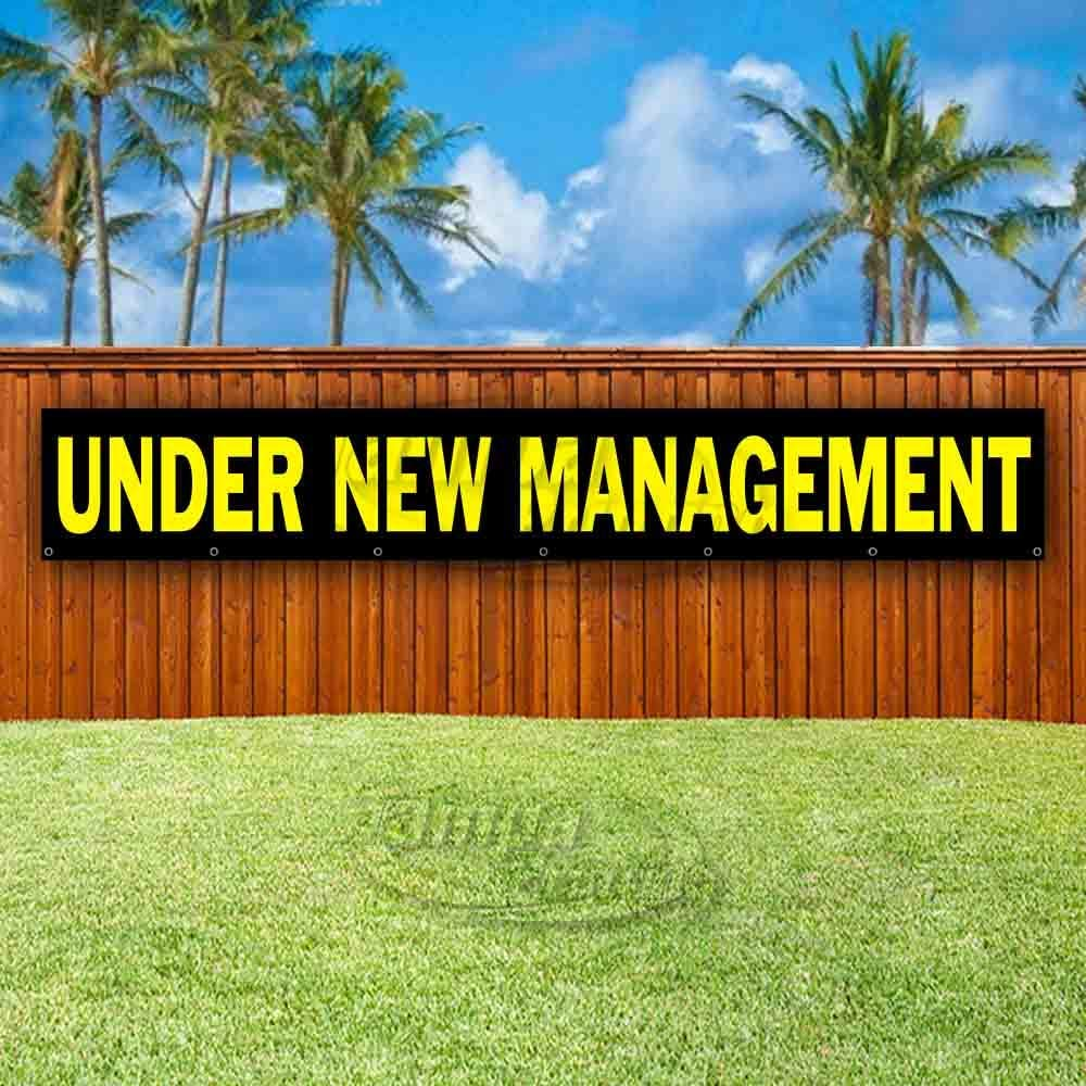 Flag, Advertising New Store Under New Management Extra Large 13 oz Heavy Duty Vinyl Banner Sign with Metal Grommets Many Sizes Available