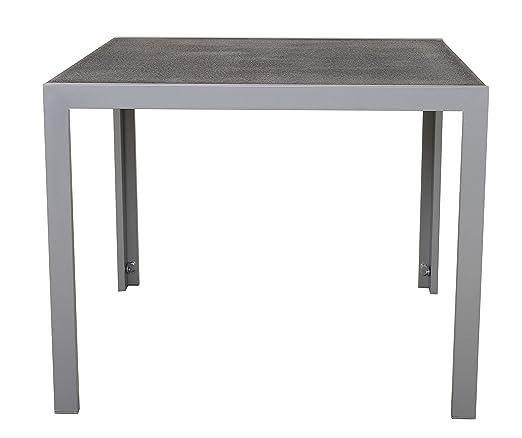 Ambientehome 50210 - Mesa de Aluminio para jardín con Tablero de ...