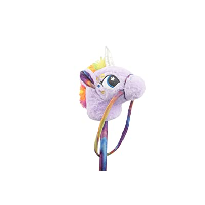 """Linzy Toys 30"""" Unicorn Stick Horse with Sounds, Purple: Toys & Games"""