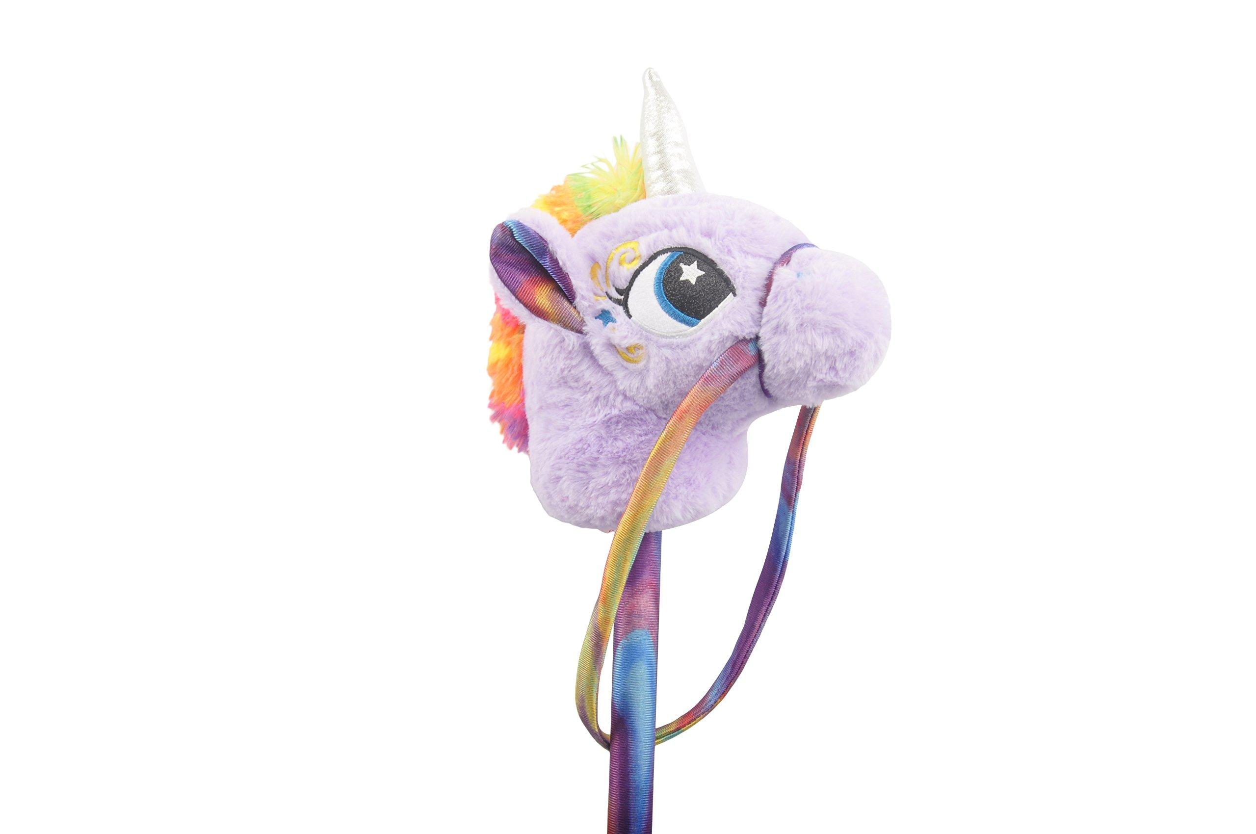 Linzy Toys 30'' Unicorn Stick Horse with Sounds, Purple