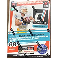 $59 » 2021 Panini Donruss NFL Football Factory Sealed Blaster Box 11 Packs of 8 Cards, Massive 88 Cards in All Chase Optic Preview…