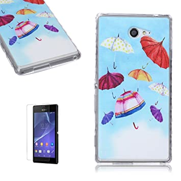 Funda CaseHome Sony Xperia M2 Silicone Gel Carcasa(Con HD ...