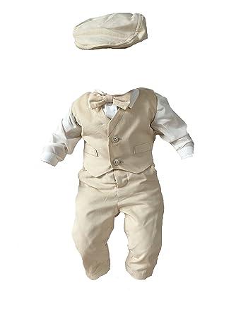 Sixforkids - Costume de baptême - Bébé (garçon) 0 à 24 Mois Beige Beige 8ce2b50b767