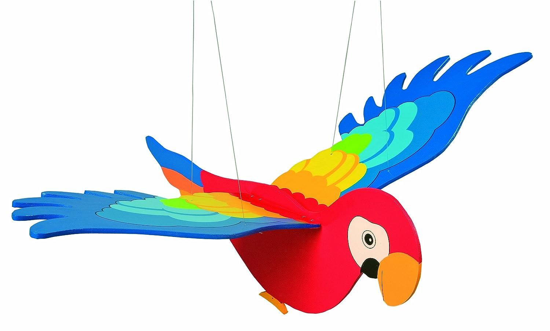 Goki 2089 - Papagei, Schwingtier GK454 Kinderzimmerdekoration
