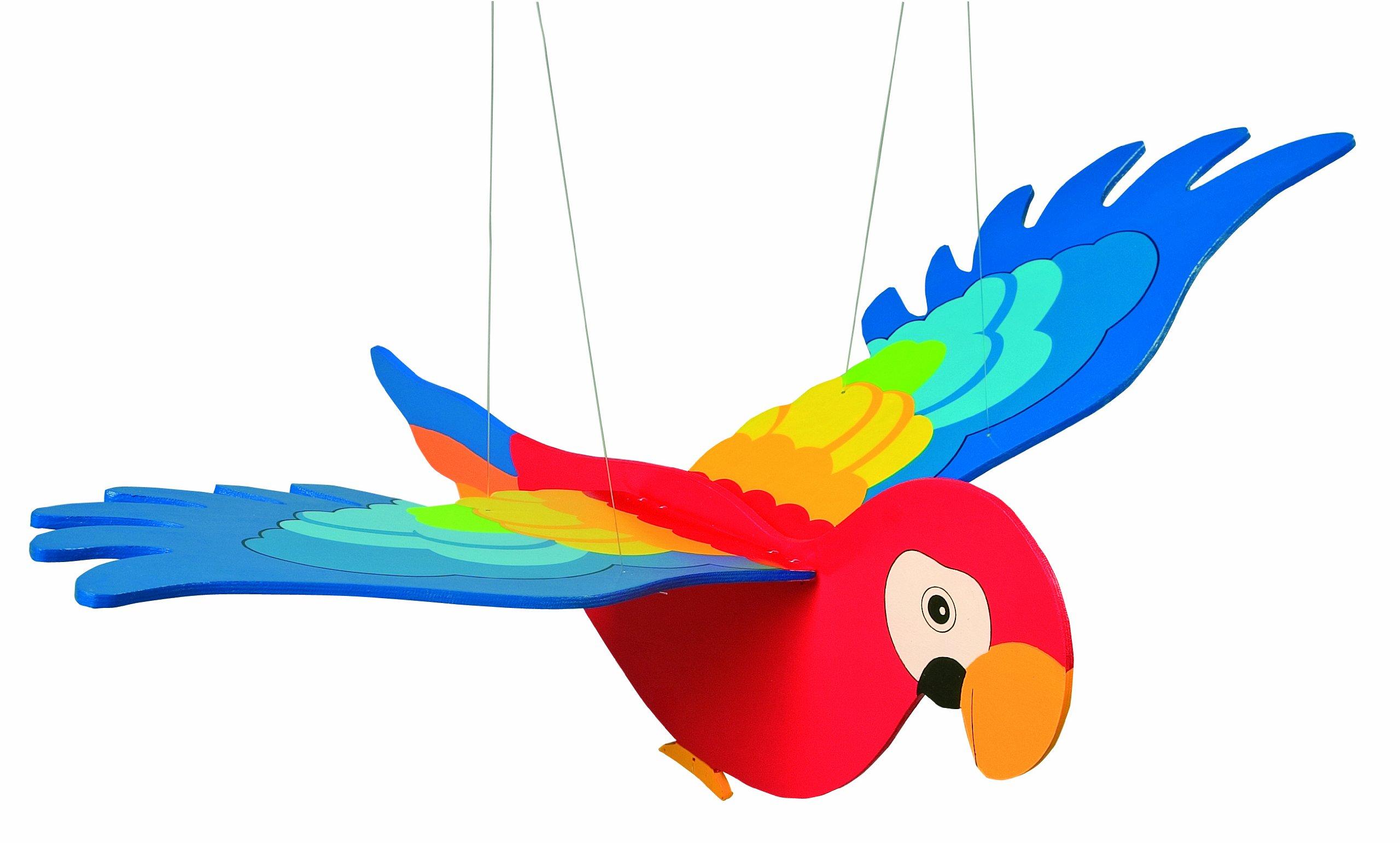 Goki Swing Animal Parrot Baby Toy, Blue