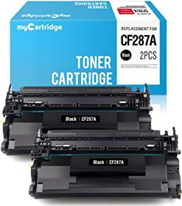 myCartridge Compatible Toner Cartridge Replacement for HP 87A CF287A (Black, 2-Pack) Fit Laserjet Enterprise M506dn M506N M506X M506 MFP M527dn M527z M527f Pro M501dn M501n