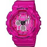 Casio Baby-G BA120SP-4A Scratch Pattern White Analog Digital Watch Womens