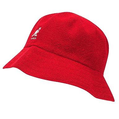 cc18175033c3e Kangol Mens Boucle Bucket Hat Red1 S-M  Amazon.co.uk  Clothing