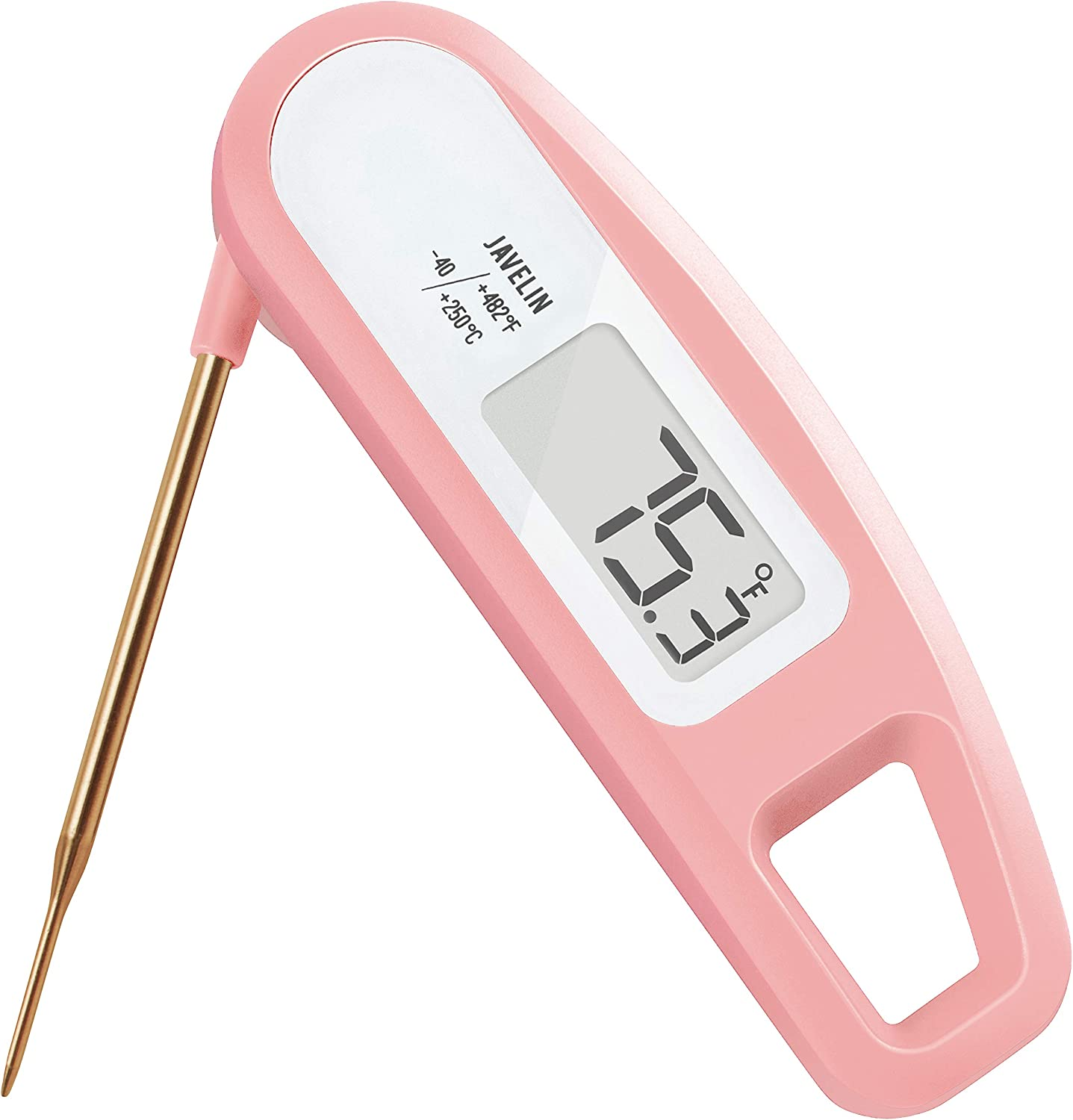 Lavatools PT12 Javelin Digital Instant Read Meat Thermometer for Kitchen, Food Cooking, Grill, BBQ, Smoker, Candy, Home Brewing, Coffee, and Oil Deep Frying (Rose)
