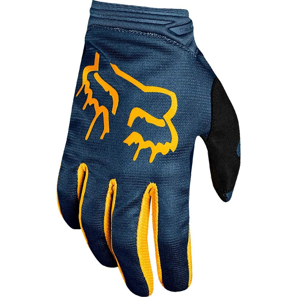 NAVY//YELLOW SMALL Mata Fox Racing 2019 Girls Dirtpaw Gloves