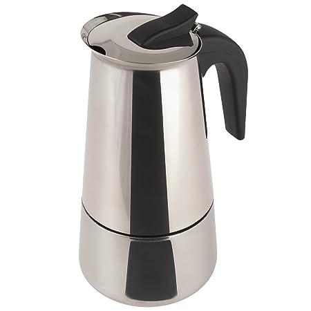 Cafetera Acero INOX. inducción 9 Tazas Acero
