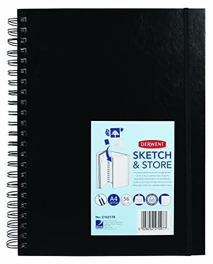 03f6c6ce4 Derwent - Cuaderno de dibujo (A4, 165 g/m², 56 hojas)