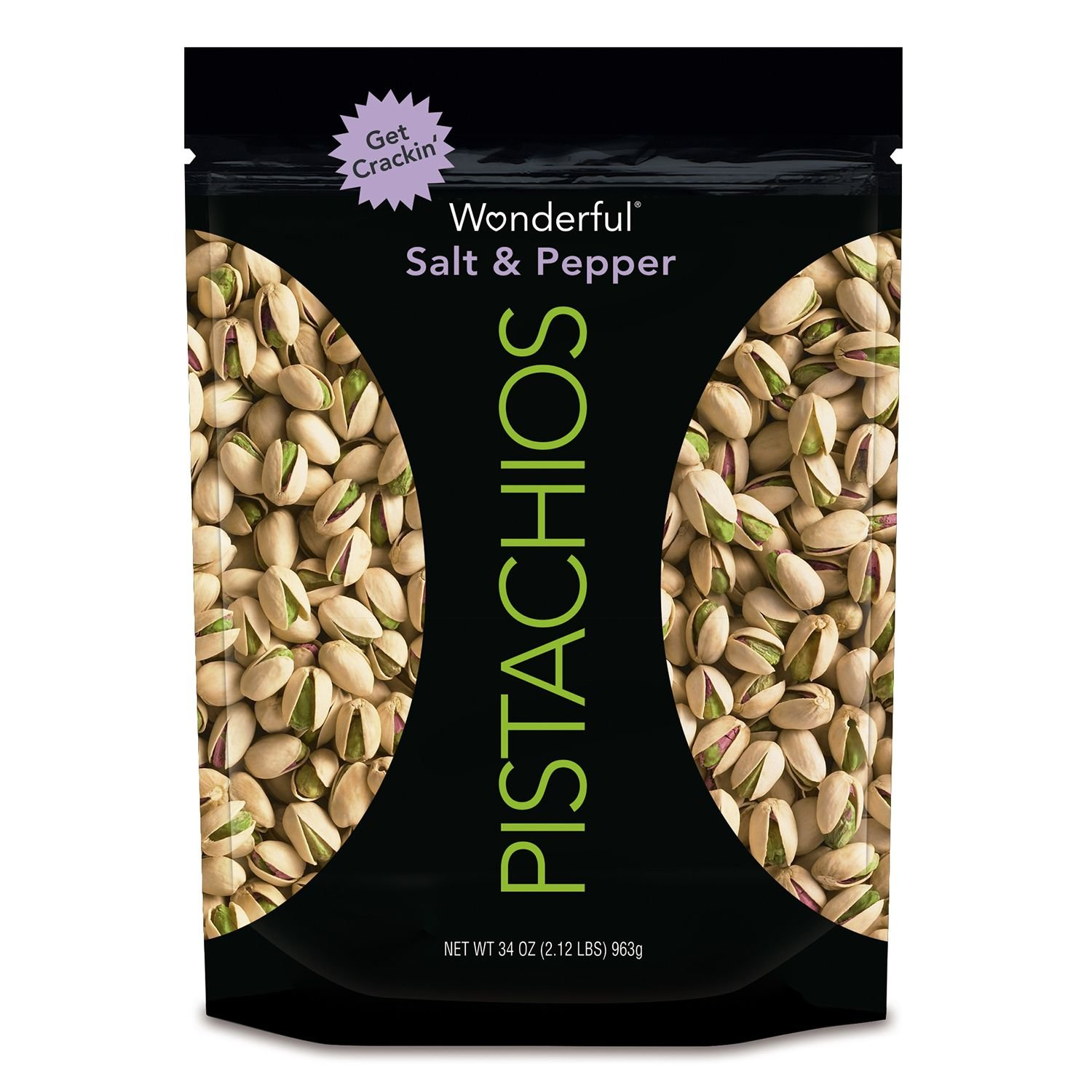 Wonderful Salt and Pepper Pistachios (34 oz.) (pack of 6)