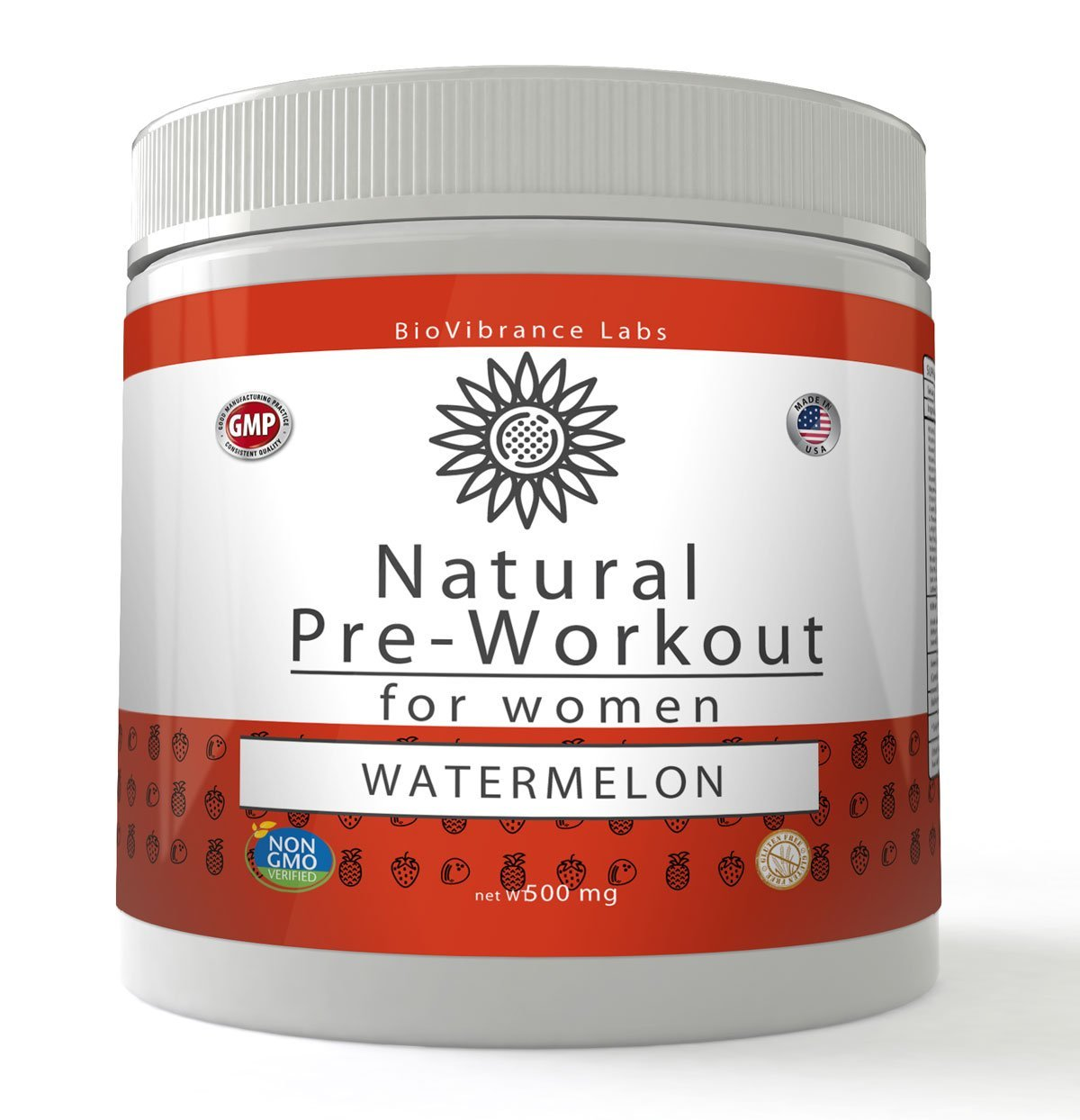 BioVibrance Natural Pre Workout -Healthy Pre Workout Drink For Women -Maximize Your Workout Without the Crash!