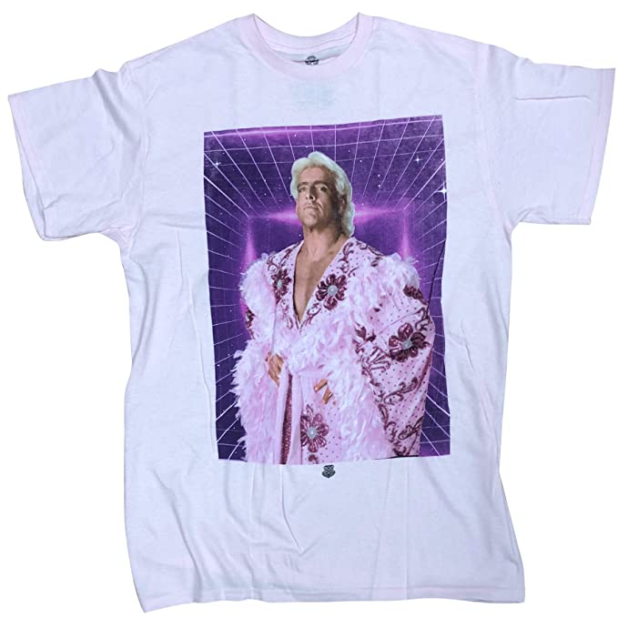 92ee2690459 Amazon.com  WWE RIC Flair Vintage Classic Pink Robe Men s T-Shirt ...