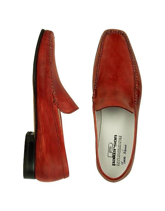 Pakerson Homme 1100111051118 Rouge Cuir Mocassins: Amazon.fr: Chaussures et  Sacs