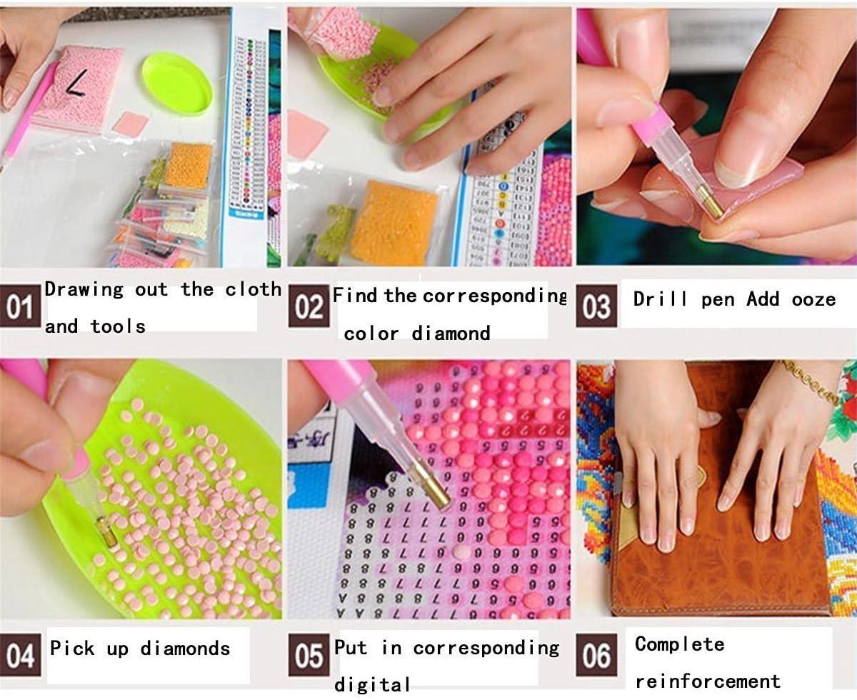5 D con strass da incollare pittura punto-croce tema: mandala floreale Gemini/_mall/® Kit da ricamo decorazione per la casa #8
