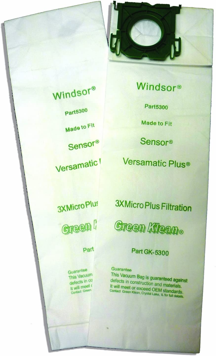 Green Klean 5300 & 8.600-050.0, 2050102000 Windsor Sensor/Versamatic Plus Replacement Vacuum Bags