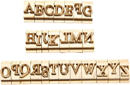 Longan Craft Leather Stamp Letters Brass Stamping Flexible Alphabet Mold Stamping Tools for Hot Foil Stamping Machine T-Slot