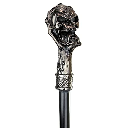 Amazon.com: Design Toscano The Dragonsthorne Collection Deaths Grip Skull and Claw Gothic Walking Stick Swagger Cane, 39 Inch, Polyresin, Silver: Home & ...