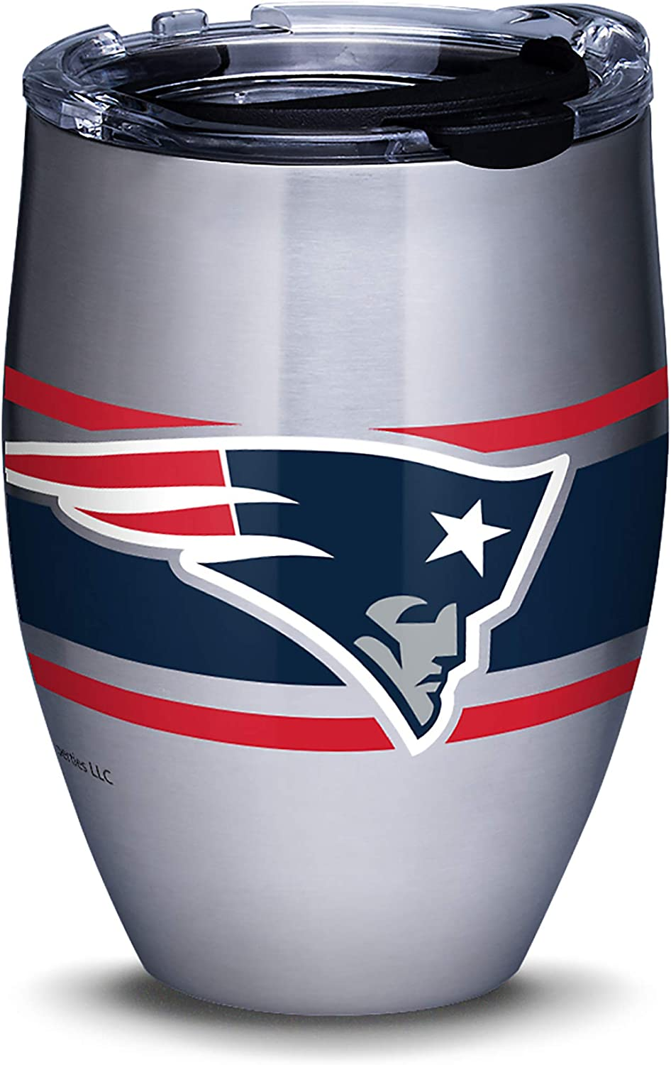 Tervis NFL New England Patriots Stripes Insulated Travel Tumbler with Lid, 12oz - Stainless Steel, Silver