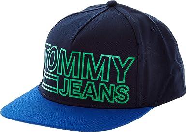 Tommy Hilfiger TJM - Gorra con Visera Plana, Color Azul: Amazon.es ...