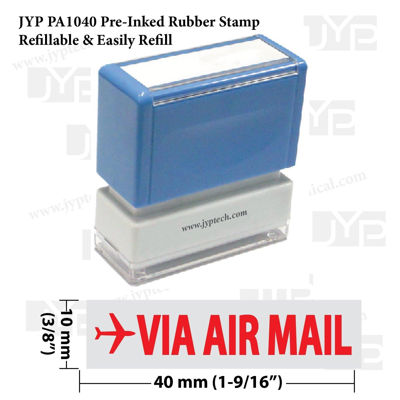 新しいJYP pa1040 pre-inkedゴム製スタンプW。Via Air Mail   B00QCV7YKA