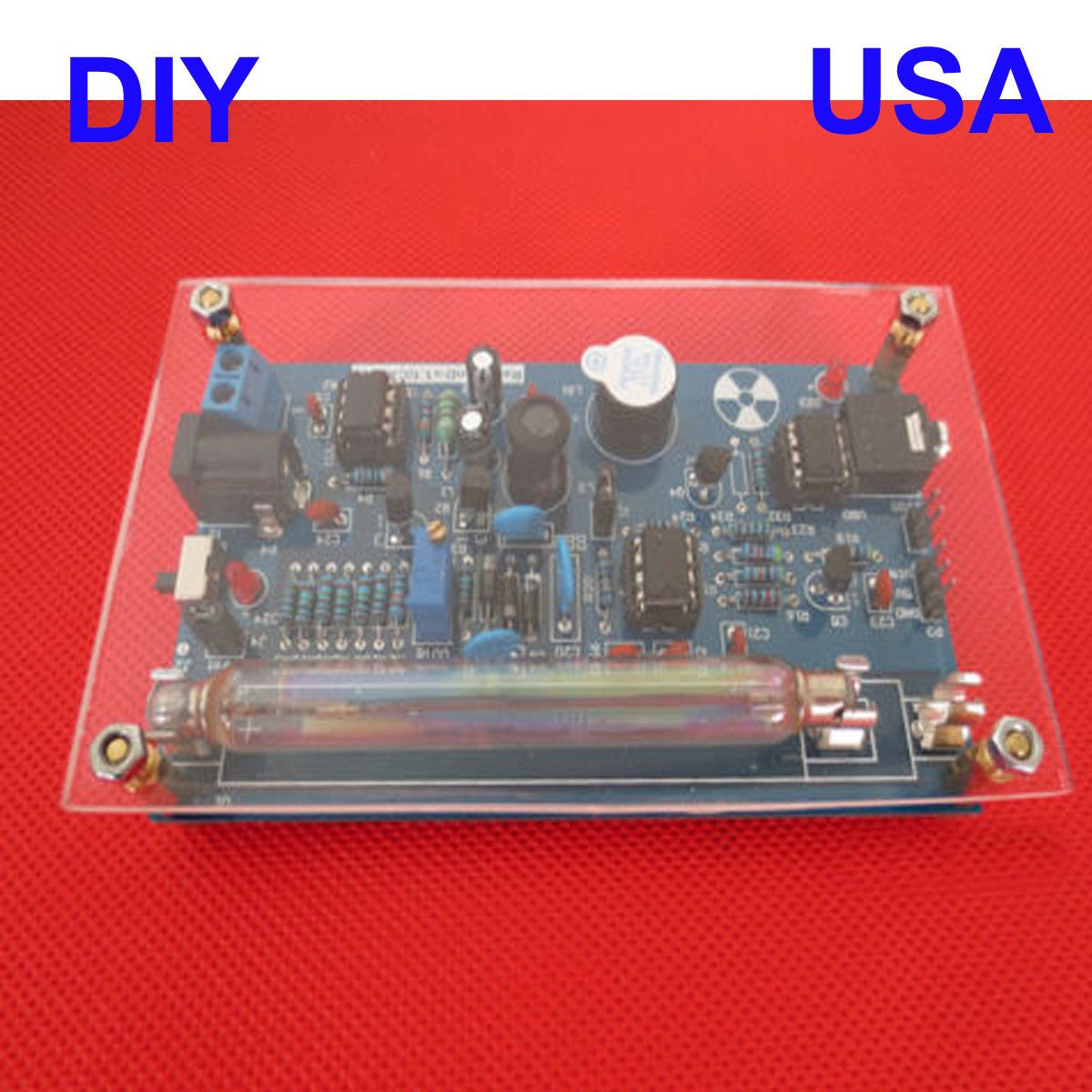JIAN YA NA US Assembled DIY Geiger Counter Kit Nuclear Radiation Detector Arduino Tube: Amazon.com: Industrial & Scientific
