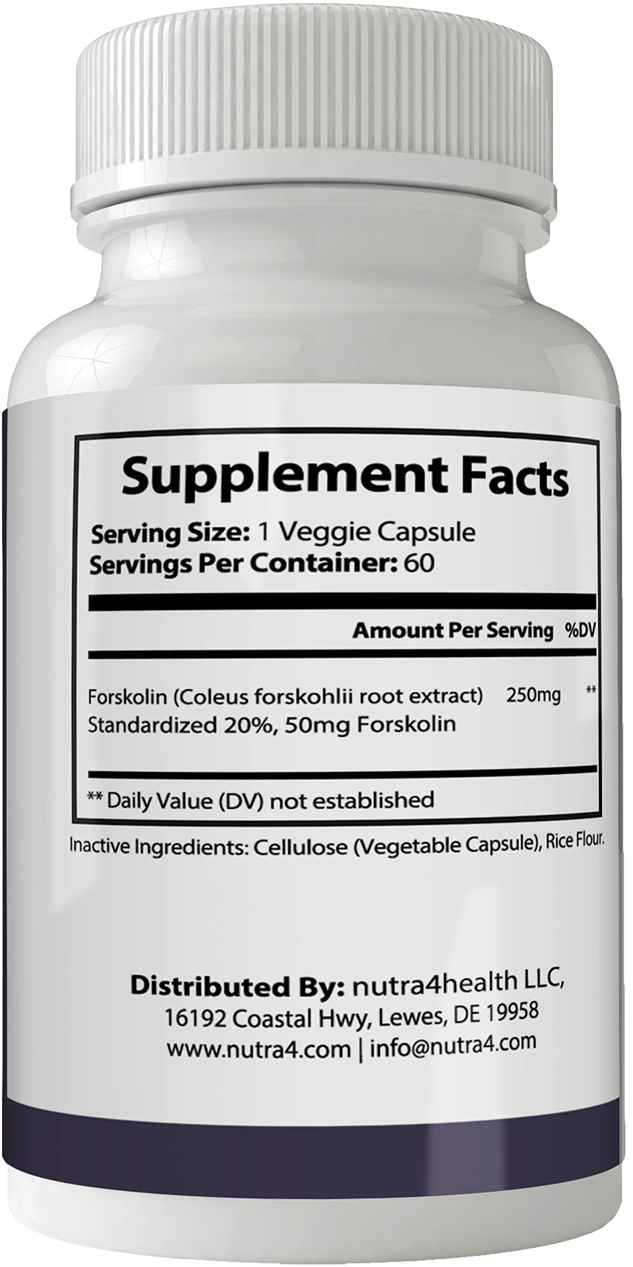 Keto Rapid Max Forskolin for Weight Loss Supplement Pills Ultra Formula with 250mg High Quality Natural Forskolii Extract Appetite Suppressant Tablets Boost Metabolism by nutra4health LLC (Image #2)