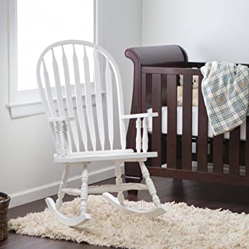 Amazoncom Windsor Baby Nursery Rocking Chair White Baby