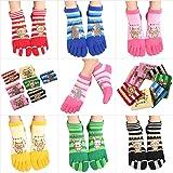 5本指ソックス おもしろかわいい五本指靴下 レディースサイズ ショート 靴下 8足組セット