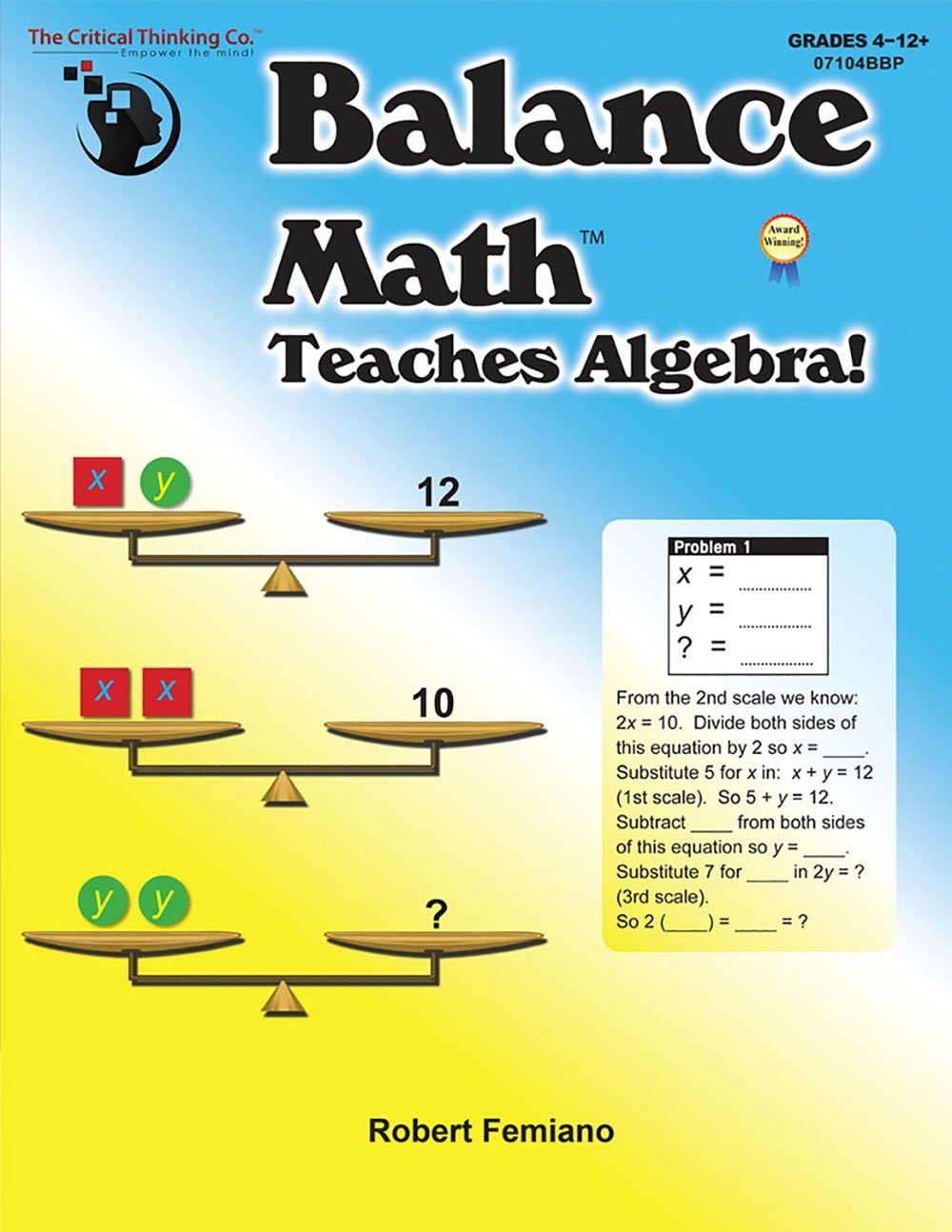 Balance Math Teaches Algebra!: Robert Femiano: 9781601444080: Amazon.com:  Books